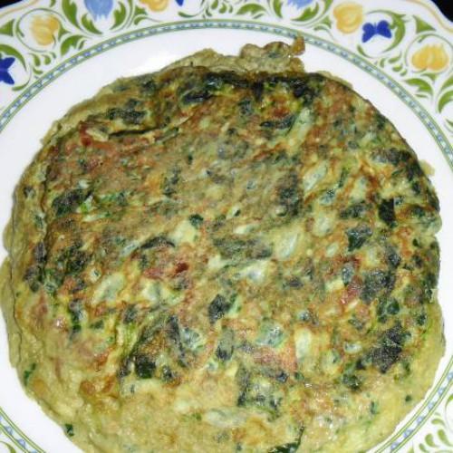 tortilla de espinacas y esparragos