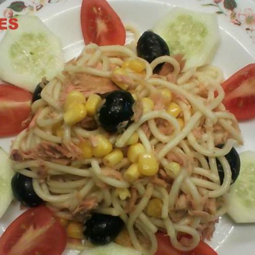 espaguetis aliñados