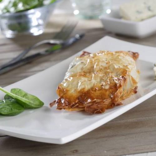 Crujientes rellenos de queso y espinacas