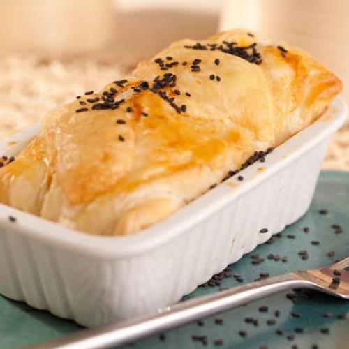 Pastel de col con salsa boloñesa