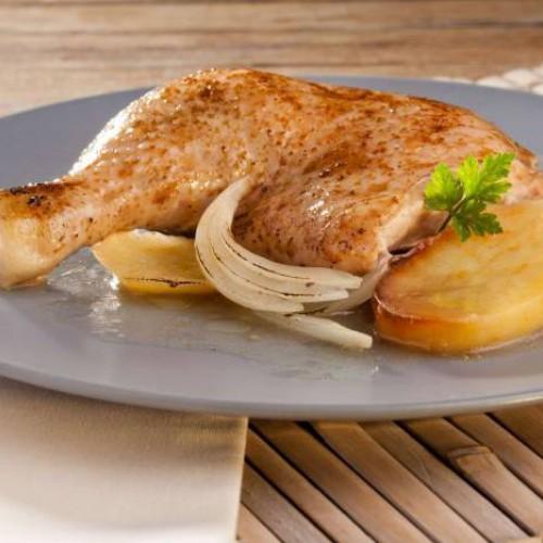 Pollo asado en microondas - Gallina Blanca