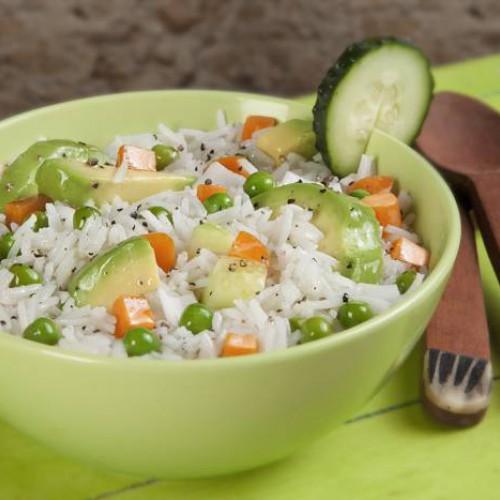 Receta de ensalada de arroz y aguacate