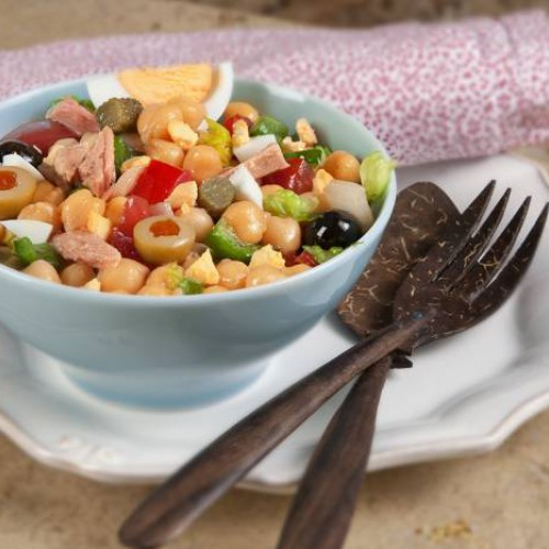 Receta de ensalada veraniega de garbanzos