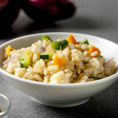 Arroz pilaf con curry y verduras