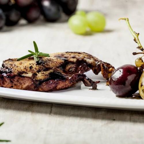 Pato a las uvas y mostaza