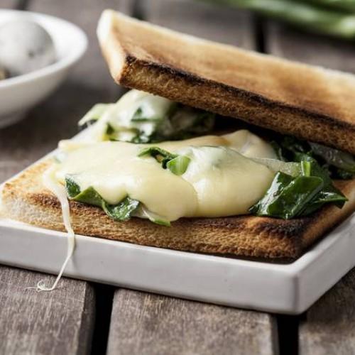Sandwich de acelgas y queso