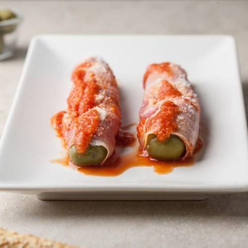 Rollitos de jamón cocido