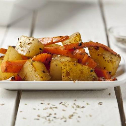 Patatas y zanahorias con hinojo