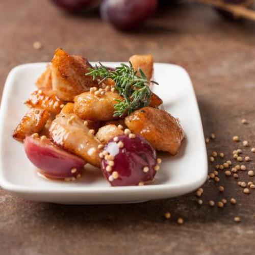 Pavo con salsa de uvas
