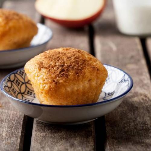 Muffins integrales de manzana