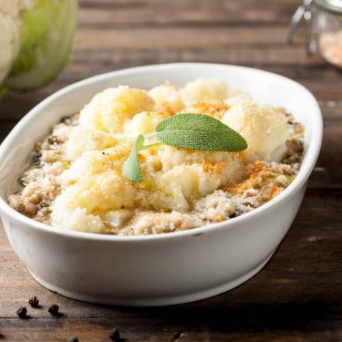 Sopa de legumbres y coliflor
