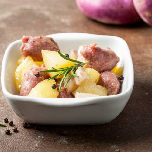 Estofado de patatas y salchichas