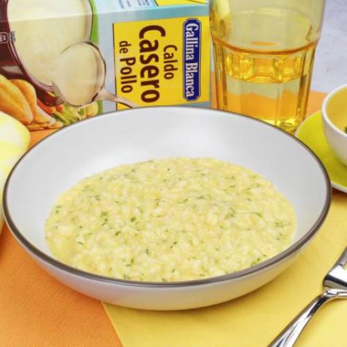 Risotto de queso cheddar
