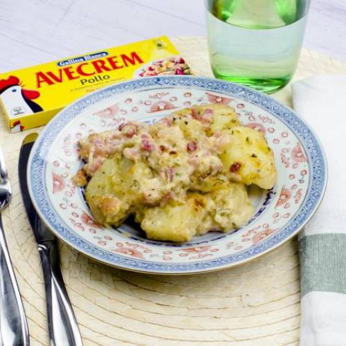 Patatas con bacon y queso