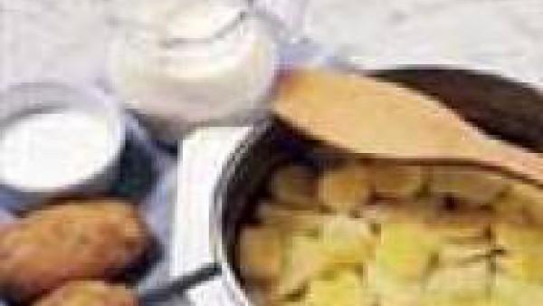 Primer paso crema de patatas y esparragos