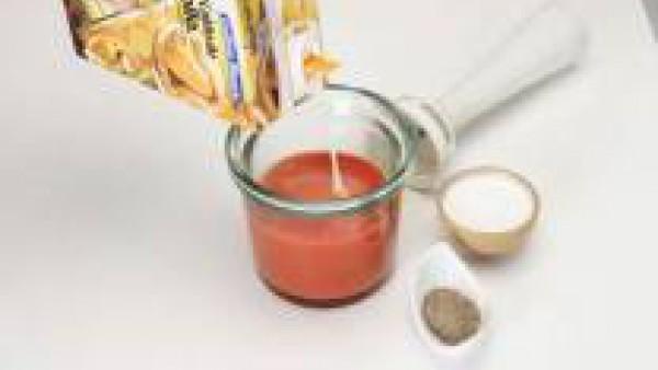 Segundo paso crema de pimientos rojos