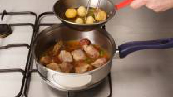 Tercer paso carne guisada con patatas