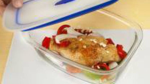 Receta de pechugas de pollo cocinadas al microondas