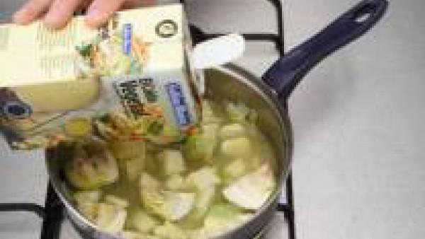 Primer paso sopa de alcachofas