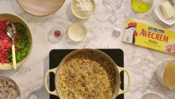 Cómo preparar Arroz con verduras y champiñones - paso 3