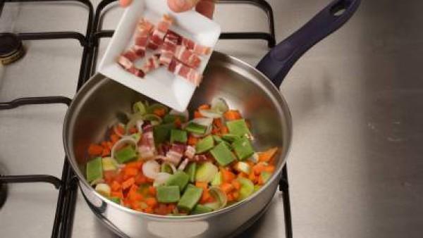 Primer paso sopa de verduras con pasta