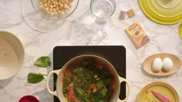 Cómo hacer garbanzos con espinacas - paso 2