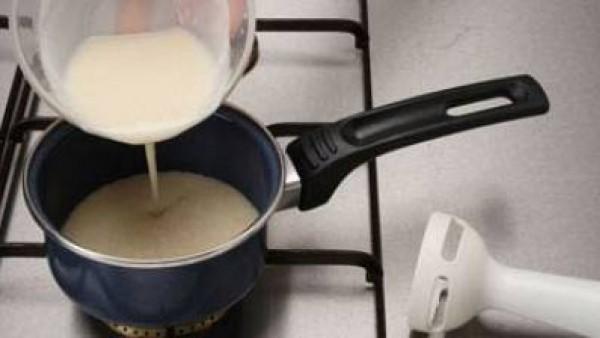 Mero a la crema de ajos tiernos Paso 3