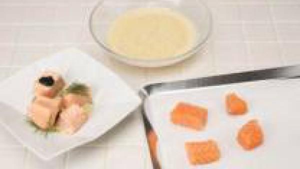 Cómo preparar salmón con trufas y salsa de cava - Paso 2