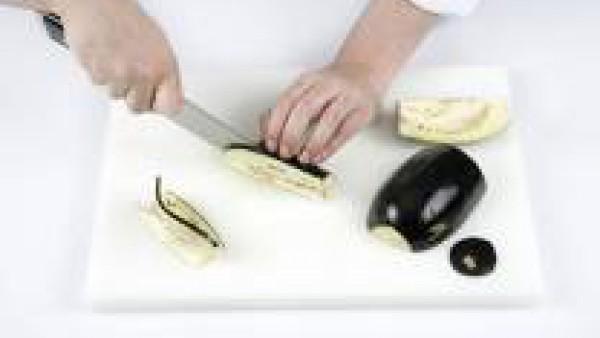 Cómo preparar chips de berenjena - paso 1
