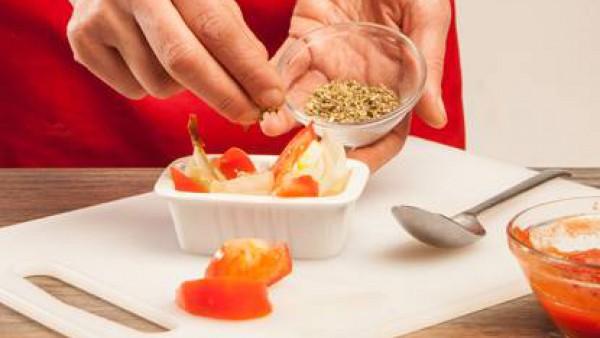 Cómo preparar Cebollas y tomates al horno- Paso 3