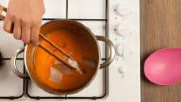 Tercer paso crema de calabaza con bacalao