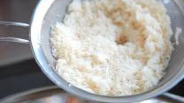 Lava el arroz