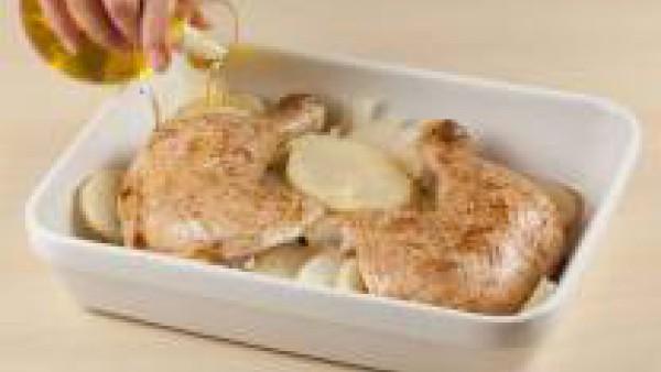 Cómo preparar Pollo asado en microondas - Paso 3
