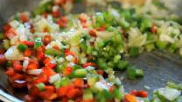 Segundo paso paella de arroz venere