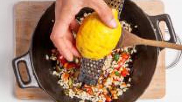 Cómo preparar Salteado de cebada y verduras - paso 3