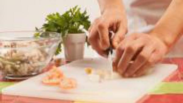 Segundo paso sopa de pescado con verduras