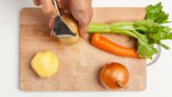 Primer paso sopa de verduras con hierbas