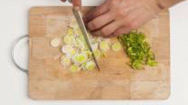 Cómo preparar Quiche de puerro y jamón - paso 1