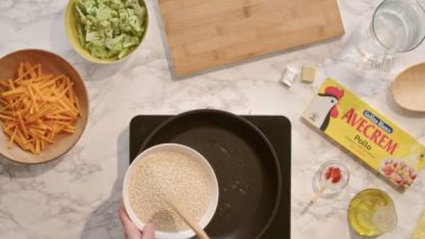 Cómo hacer quino con verduras - paso 1