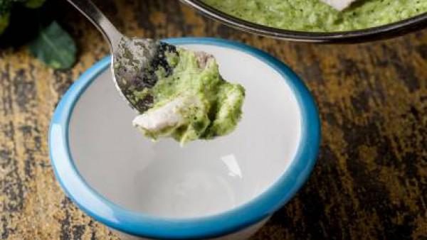 Cómo preparar Crema de brócoli y rape. Paso 3