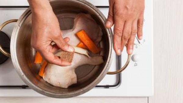 Paso 2 ensalada de pollo guisado