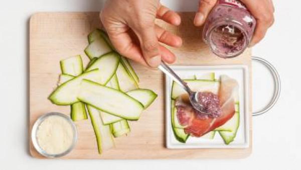 Cómo preparar Milhojas de calabacín y jamón- Paso 3
