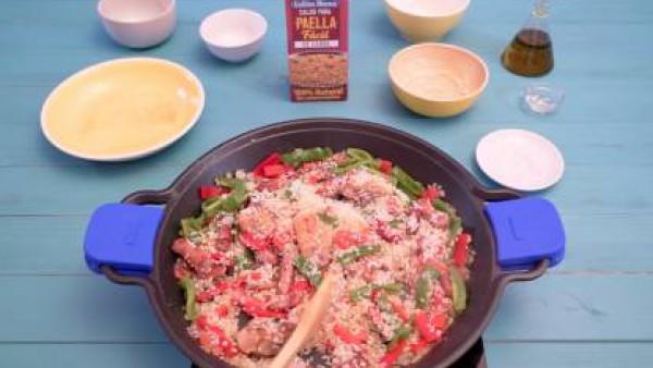 Cómo hacer paella de carne - paso 3