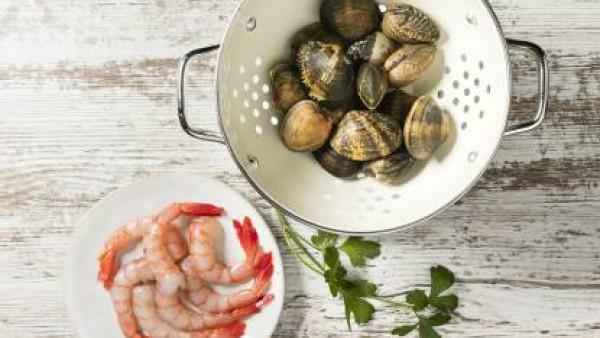 Cómo preparar Crema de marisco– paso 1