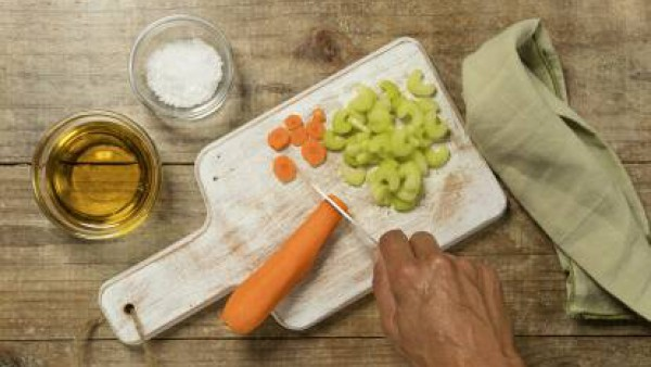 Cómo preparar Lentejas con verduras- paso 1