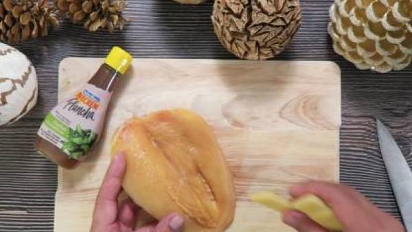 Cómo preparar Pechuga de pollo con queso y espárragosi - Paso 3