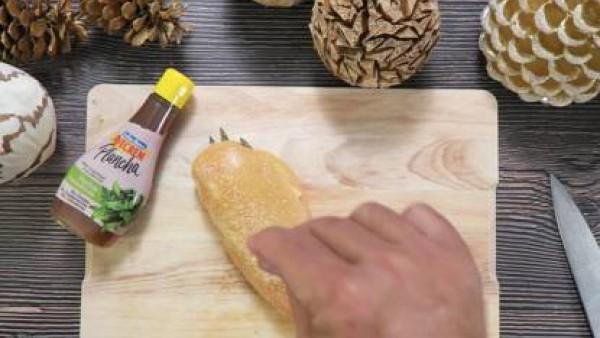 Cómo preparar Pechuga de pollo con queso y espárragos - Paso 2