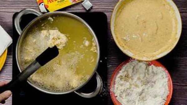 Tercer paso en el que te enseñamos como hacer pollo crispy