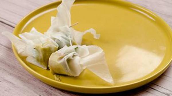Tercer paso en el que enseñamos como preparar saquitos de pasta filo