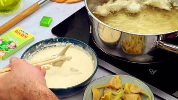 Segundo paso alcachofas en tempura